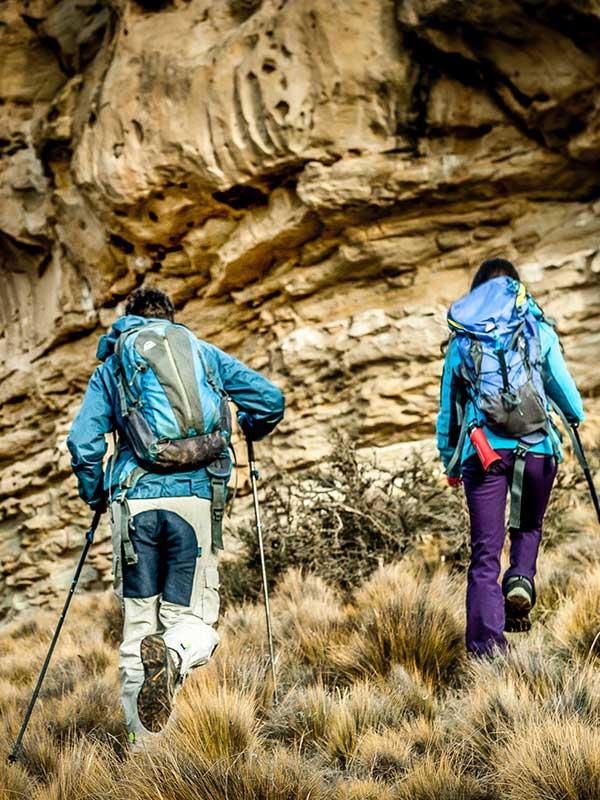 trekking en estepa patagonica